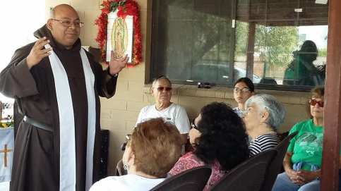 Fr. Jose Luis Giving Mass at Casa Maria, April 30