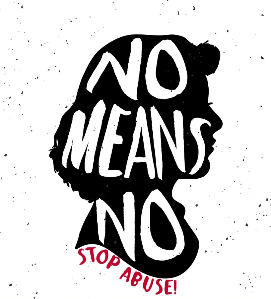 no-means-no-quote-on-woman-silhouette-vector-8607922